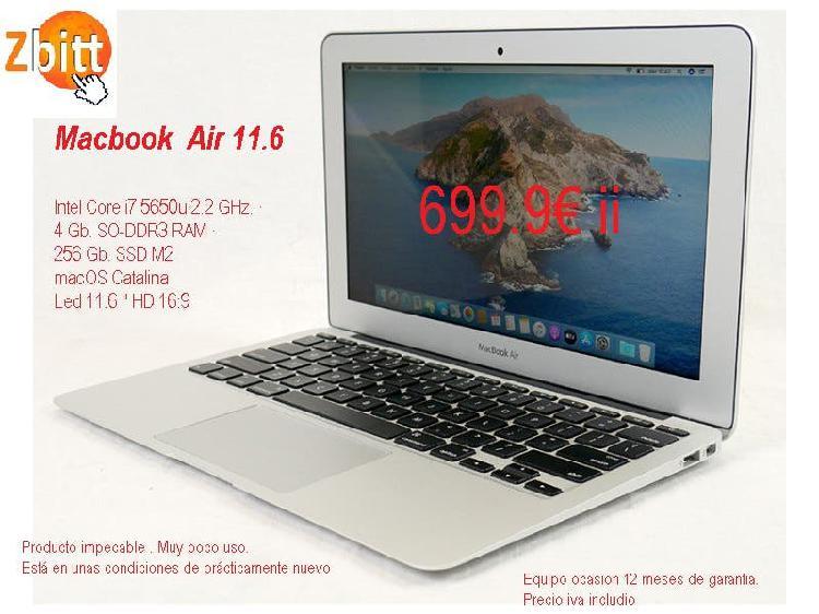 Macbook air 11.6 intel i7 ssd 256gb