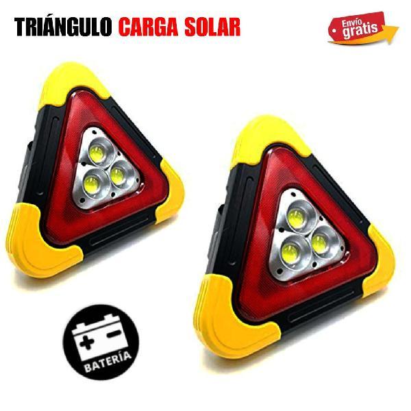 Triángulos led de emergencia carga solar nuevos.