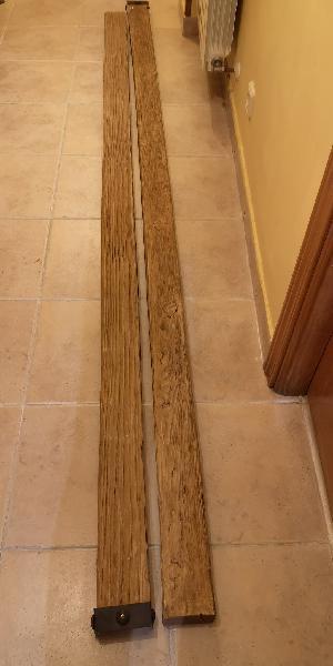Vigas imitación madera. varias medidas. color miel