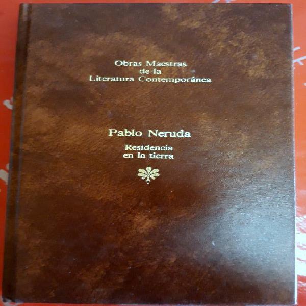 libro Pablo Neruda Residencia en la tierra