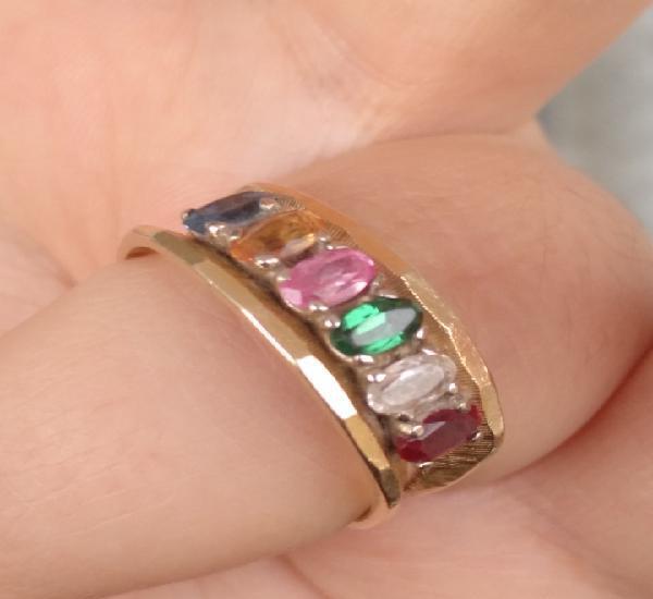 Anillo de oro 14k con piedras preciosas Cornelia's jewels