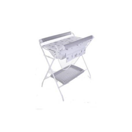 Bañera Flexible Fondo Blanco Estrellas Gris de Plastimyr