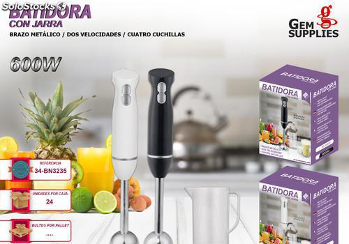 Batidora minipimer 600w metal we houseware