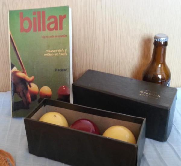 Bolas de billar. años 60-70. set de 3 bolas.