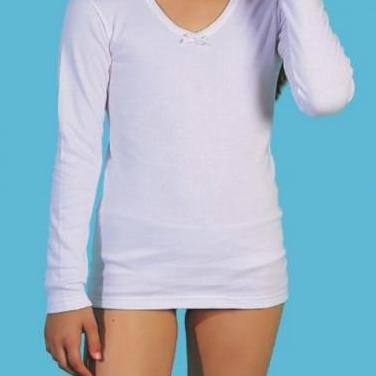 Camiseta infantil niña manga larga
