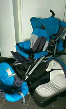 Carro silla bebe chicco 3 piezas
