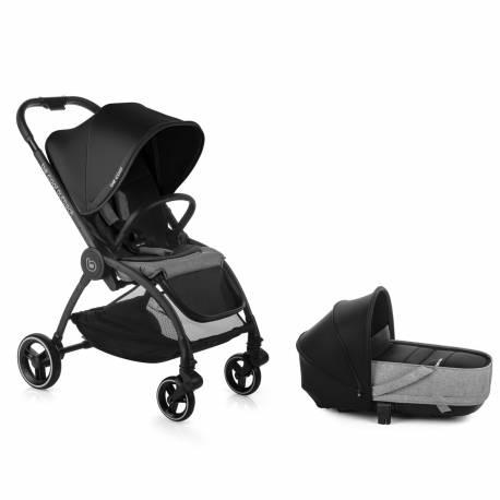 Coche bebe duo outback be solid-black de be cool