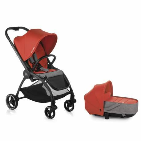 Coche bebe duo outback be solid-poppy de be cool