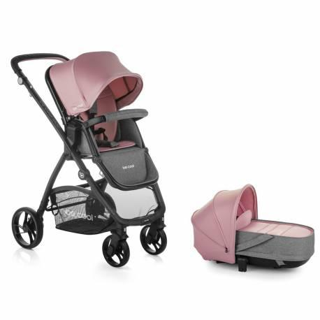 Coche bebe slide crib be solid-pink de be cool