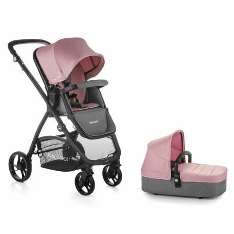 Coche bebe slide top plus be solid-pink de be cool