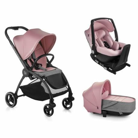 Coche bebe trio outback be solid-pink de be cool