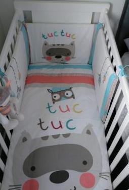Nursery Juego de ropa de funda n/órdica y funda de almohada para cuna Nuevo 100/cm x 135/cm Forest
