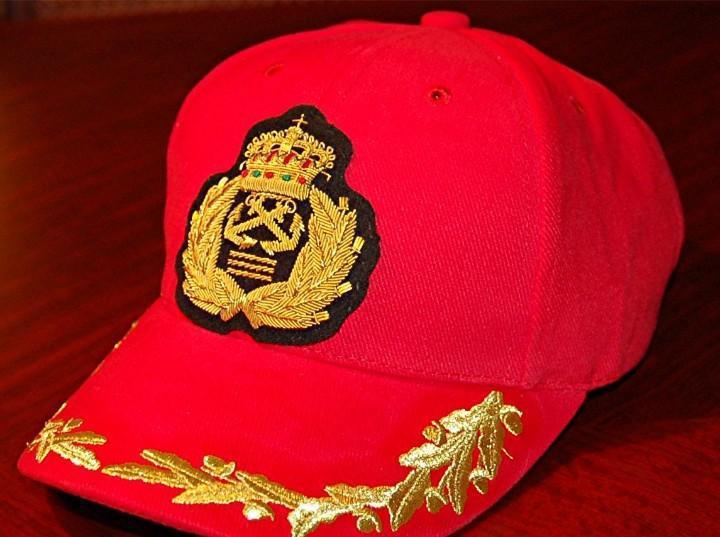Gorra capitán de yate la roja