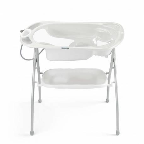 Kit bagno bañera c/soporte bagno blanca de cam neonato