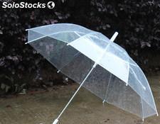 Paraguas transparente novia bodas eventos