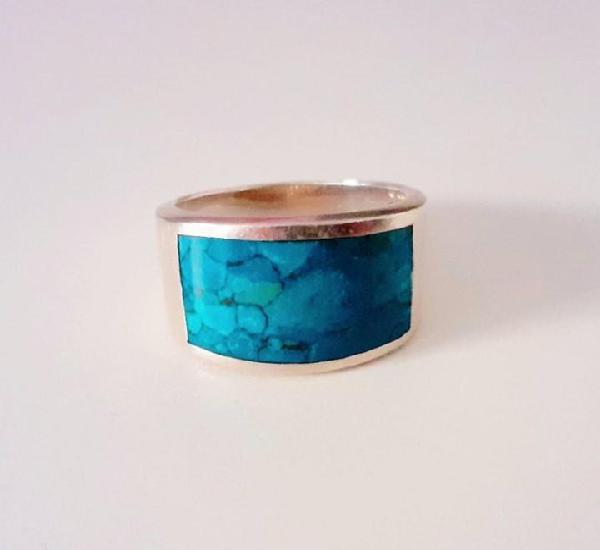Plata sortija, anillo diseño sello de plata de ley y