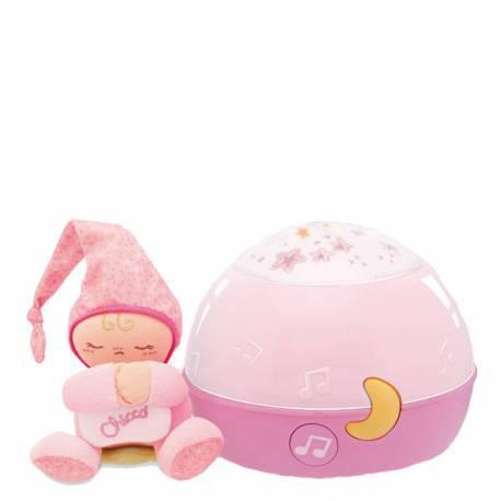 Proyector buenas noches estrellitas rosa de chicco