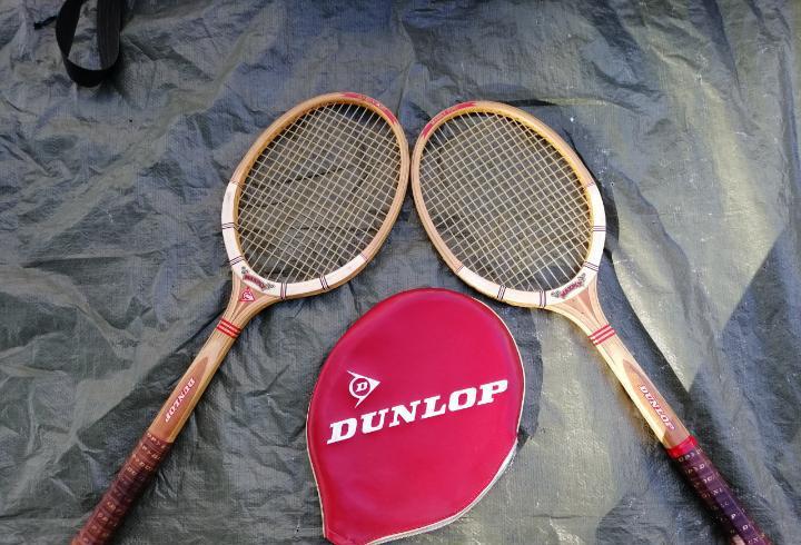 Raqueta antigua dunlop maxply