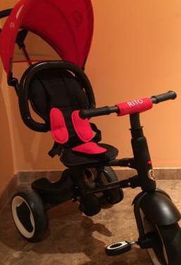 Triciclo evolutivo plegable qplay rito - rojo