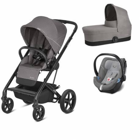 Trio balios s (silla+capazo+grupo 0) manhattan grey/mid grey