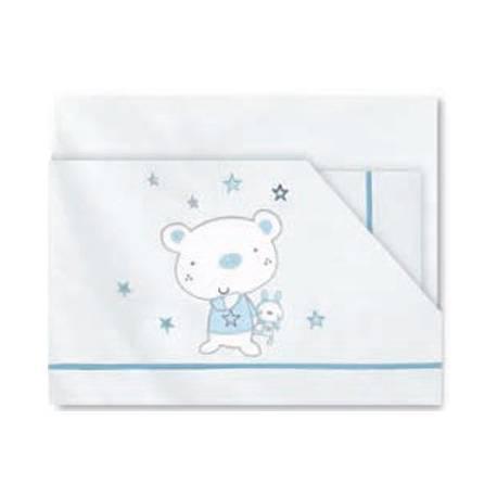 Trip.sabanas minicuna oso star azul bl/azul de pirulos