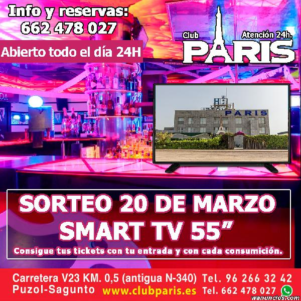 VEN A CLUB PARIS Y LLEVATE ESTE TELEVISOR SMART TV DE 55