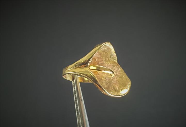 anillo en oro ley 18K 750/000