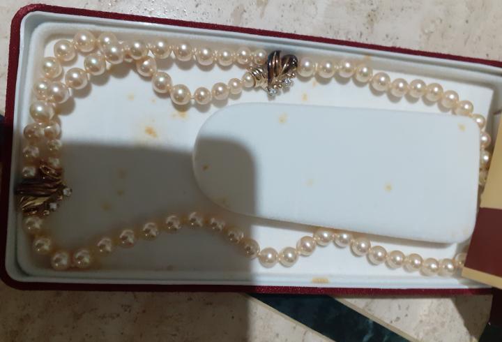 Collar antiguo perlas majorica