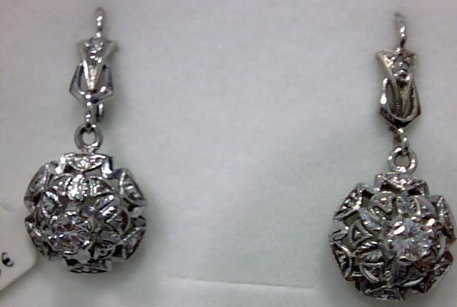 pendientes oro blanco 18 kts y diamantes