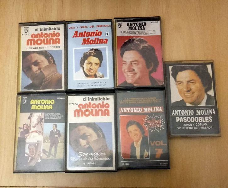 Antonio molina .- lote 7 cintas casete.
