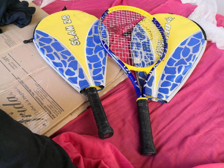 Dos raquetas dunlop de segunda mano en buen estado