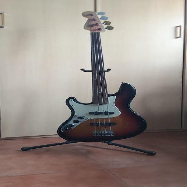 Fender american deluxe jazz bass para zurdos