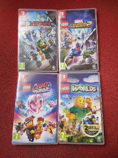 """Lote de 4 juegos""""lego"""" para (nintendo switch)"""