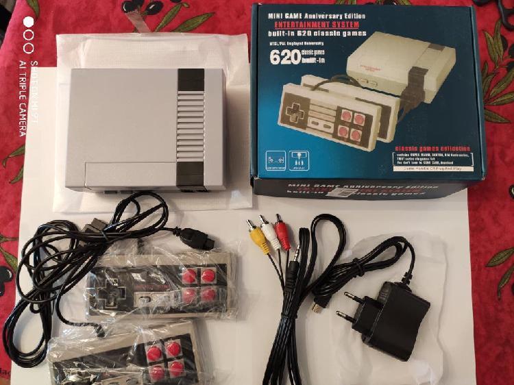 Mini consola retro con 620 juegos