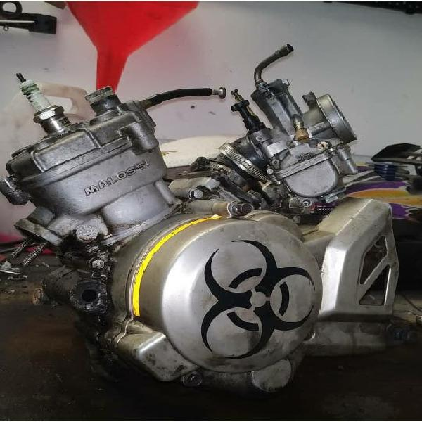 Motor derbi euro 3 malossi 80 con eje de balances