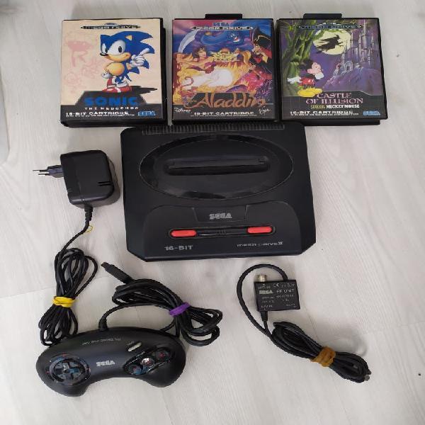 Sega megadrive ii +3juegos
