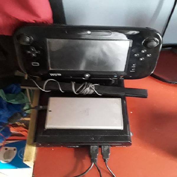 Wii u de 32 gigas con juegos y mandos negra