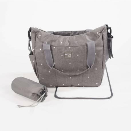 Bolsa canastilla cambiador gaby gris de walking mum