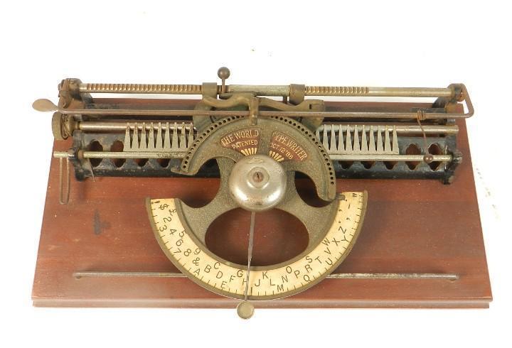 Maquina de escribir world nº1 año 1886 typewriter