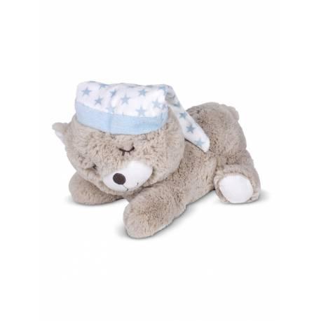 Peluche termico oso azul de mora y ferre e hijos