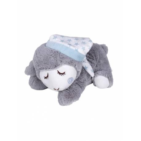 Peluche termico oveja azul de mora y ferre e hijos