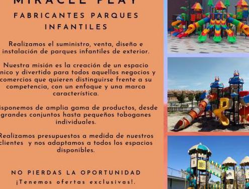Fabricación parques infantiles exterior