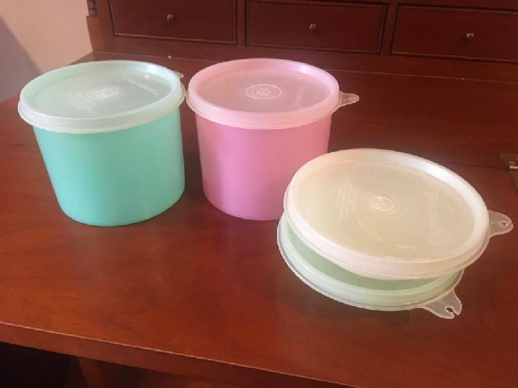 4 recipientes tupperware