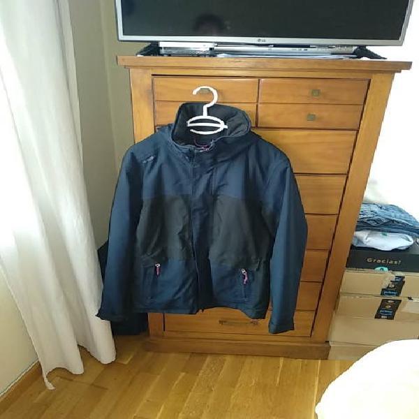 Abrigo azul marino forrado waterproof