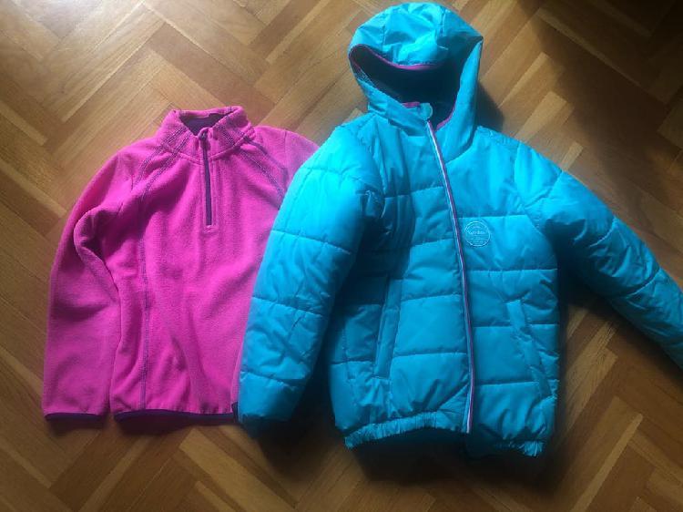 Abrigo de ski y forro polar 8-10 años