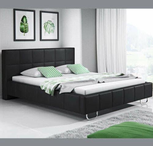 Cama de matrimonio sofía en color negro (160x200cm