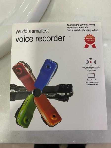 Cámara mini dv voice recorder.