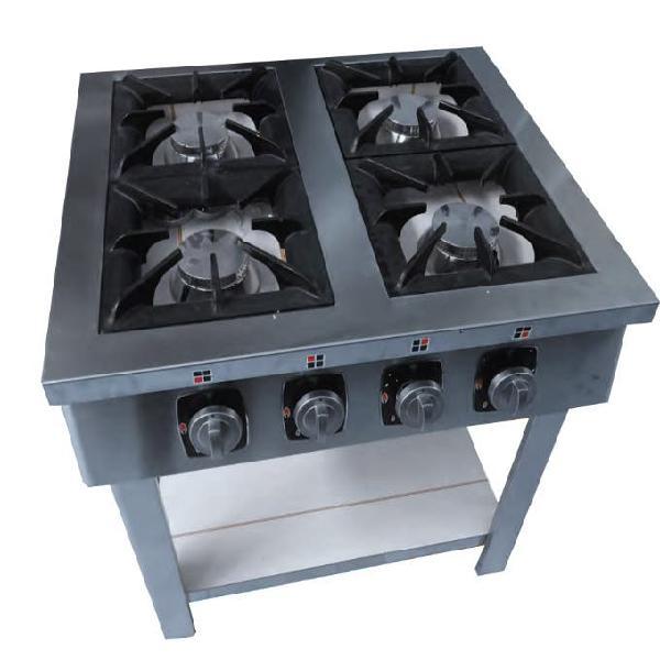 Cocina con mesa 4 fuegos