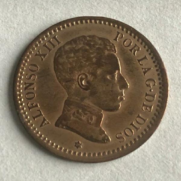 Excelentes 2 céntimos alfonso xiii 1905 *05