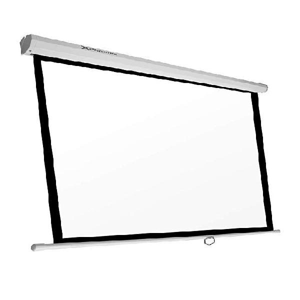 Pantalla proyector manual 2 x 1,50 mts. nueva